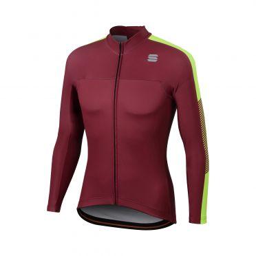 Sportful Bodyfit Pro thermal fietsshirt lange mouw paars/geel heren