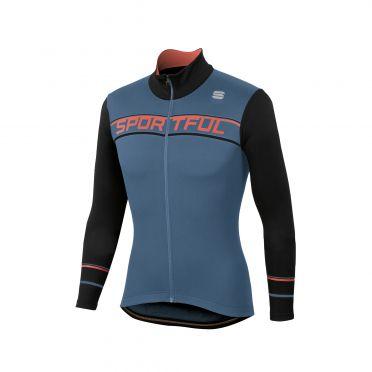 Sportful Giro thermal fietsshirt lange mouw blauw/zwart heren