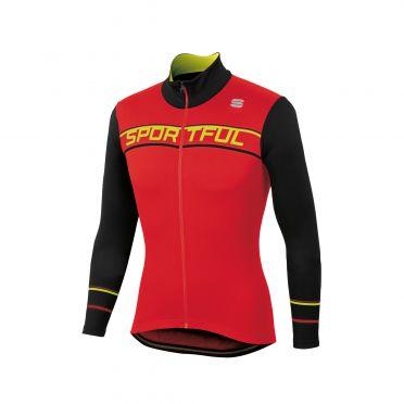 Sportful Giro thermal fietsshirt lange mouw rood/zwart heren