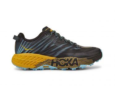 Hoka One One Speedgoat 4 trail hardloopschoenen zwart/geel dames
