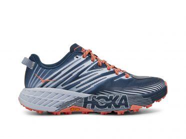 Hoka One One Speedgoat 4 trail hardloopschoenen blauw/grijs dames