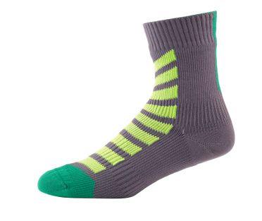 Sealskinz MTB ankle with hydrostop fietssok antraciet/groen/geel
