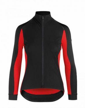 Assos TiburuJacketLaalalai fietsjack zwart/rood dames