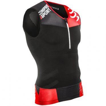 Compressport Tr3 tank top compressie shirt zwart