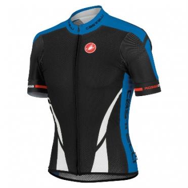 Castelli climber's jersey FZ zwart/blauw heren 13008-591 2014