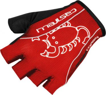 Castelli Rosso corsa classic glove rood heren