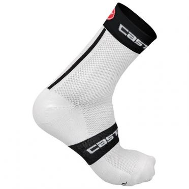 Castelli Free 9 sock wit/zwart heren fietssokken