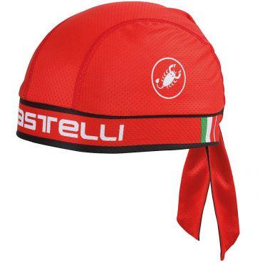 Castelli Bandana rood unisex