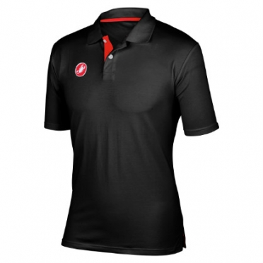 Castelli race day polo zwart heren 13096-010