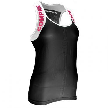Compressport Trail running shirt v2 tank compressieshirt zwart dames