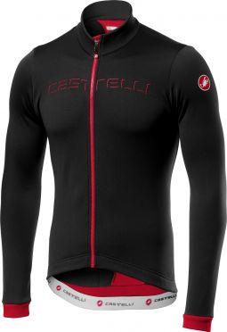 Castelli Fondo fietsshirt lange mouw zwart/rood heren
