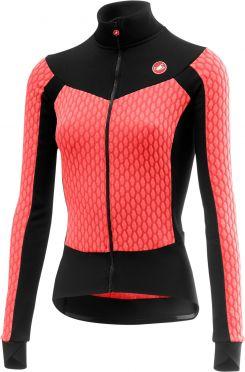 Castelli Sfida W fietsshirt lange mouw roze dames