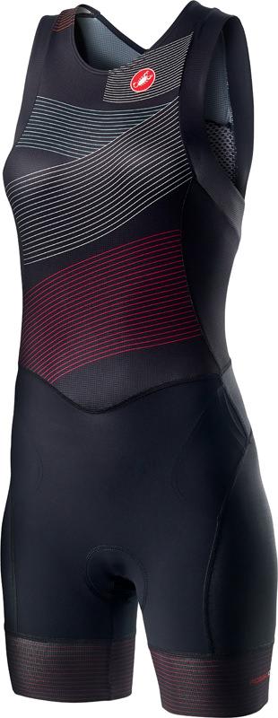 Castelli Free W tri ITU suit rits achterzijde mouwloos zwart dames