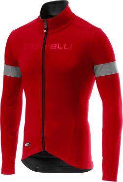 Castelli Nelmezzo ros lange mouw fietsshirt rood heren