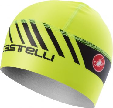 Castelli Arrivo 3 thermo skully helmmuts geel fluo heren