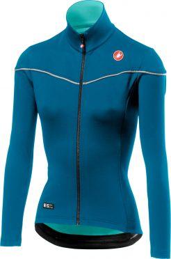 Castelli Nelmezzo ros W lange mouw fietsshirt blauw dames