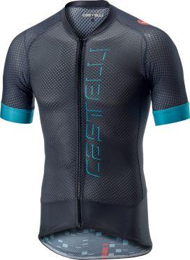 Castelli Climber's 2.0 FZ fietsshirt grijs/blauw heren