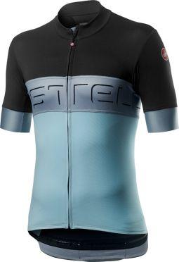 Castelli Prologo VI fietsshirt korte mouw antraciet/blauw heren