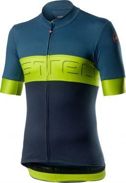 Castelli Prologo VI fietsshirt korte mouw blauw/geel heren