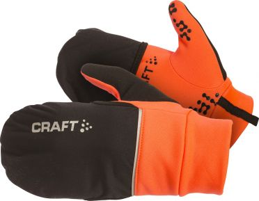 Craft Hybrid weather hardloophandschoen oranje