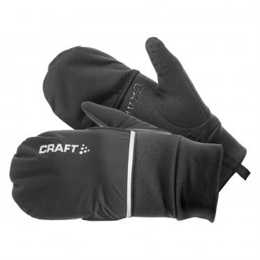 Craft Hybrid weather hardloophandschoen zwart