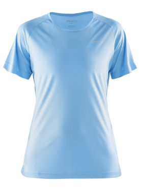 Craft Prime korte mouw hardloopshirt blauw/aqua dames