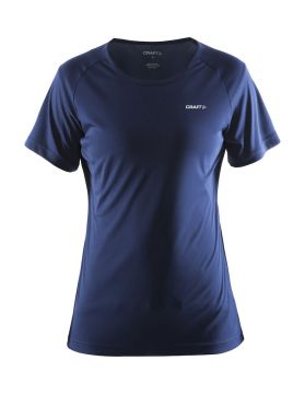 Craft Prime korte mouw hardloopshirt blauw/navy dames