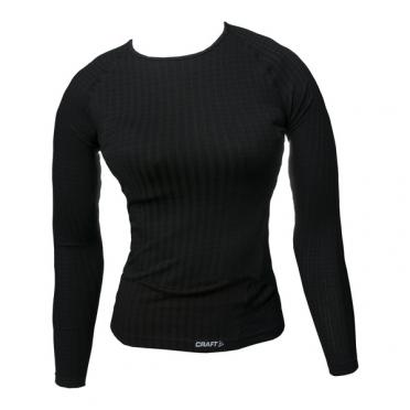 Craft Keep Warm Wool roundneck long sleeve ondershirt zwart dames