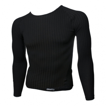 Craft Keep Warm Wool roundneck long sleeve ondershirt zwart heren