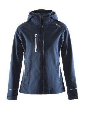 Craft Cortina soft shell winterjas blauw/navy dames