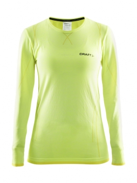 Craft Active Comfort roundneck long sleeve ondershirt geel dames