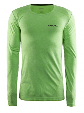 Craft Active Comfort roundneck long sleeve ondershirt groen/shout heren