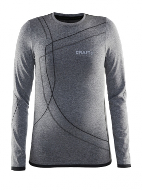 Craft Active Comfort RN lange mouw ondershirt zwart kind/junior