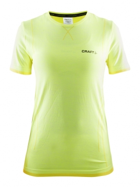 Craft Active Comfort roundneck short sleeve ondershirt geel dames