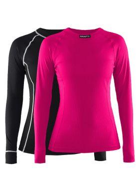 Craft Active Multi 2-pack top zwart/roze dames