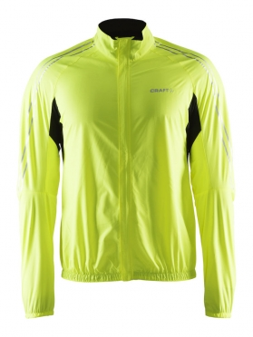 Craft velo wind jacket heren geel fluo