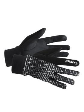 Craft Brilliant 2.0 thermal hardloophandschoen zwart/reflecterend