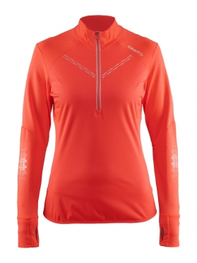 Craft Brilliant 2.0 thermal wind hardloopshirt lange mouw roze dames