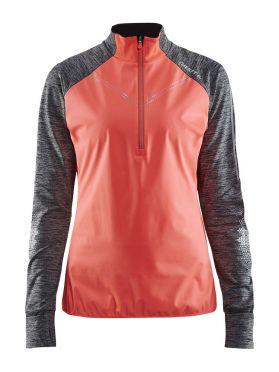 Craft Brilliant 2.0 thermal wind lange mouw hardloopshirt roze/grijs dames
