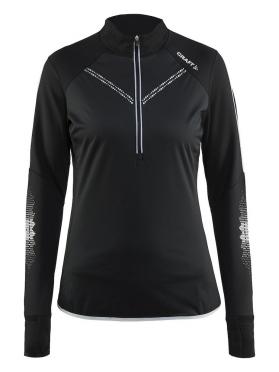 Craft Brilliant 2.0 thermal wind hardloopshirt lange mouw zwart dames