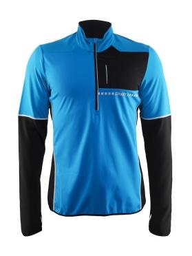 Craft Cover thermal wind hardloopshirt lange mouw blauw/zwart heren