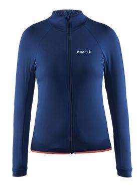 Craft Velo thermal fietsshirt lange mouw blauw dames