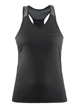 Craft Pulse spinning singlet mouwloos zwart/grijs dames