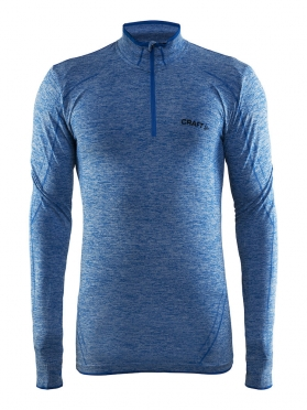 Craft Active Comfort Zip lange mouw ondershirt blauw/sweden heren