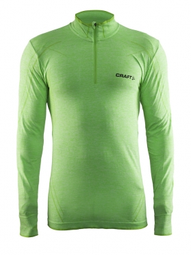 Craft Active Comfort Zip lange mouw ondershirt groen/shout heren