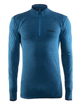 Craft Active Comfort Zip lange mouw ondershirt blauw/pacific heren