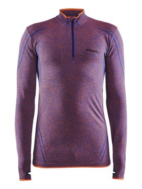 Craft Active Comfort Zip lange mouw ondershirt paars/soul heren