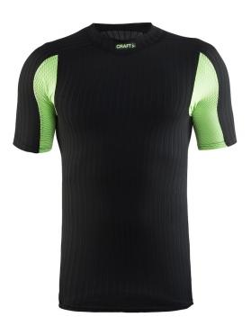 Craft Active extreme 2.0 CN korte mouw ondershirt zwart/shout heren