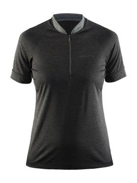 Craft Pulse spinning shirt korte mouw zwart dames