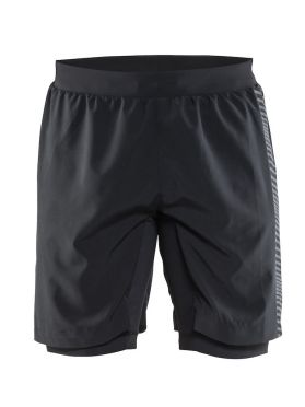 Craft Grit hardloop short zwart heren